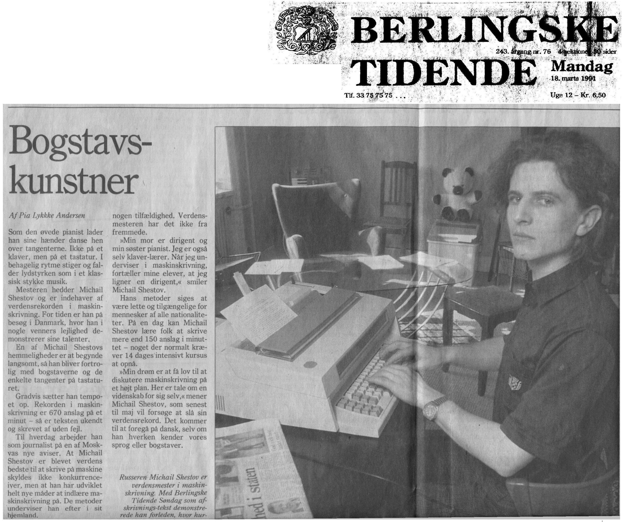 Berlingske tidende, 1991