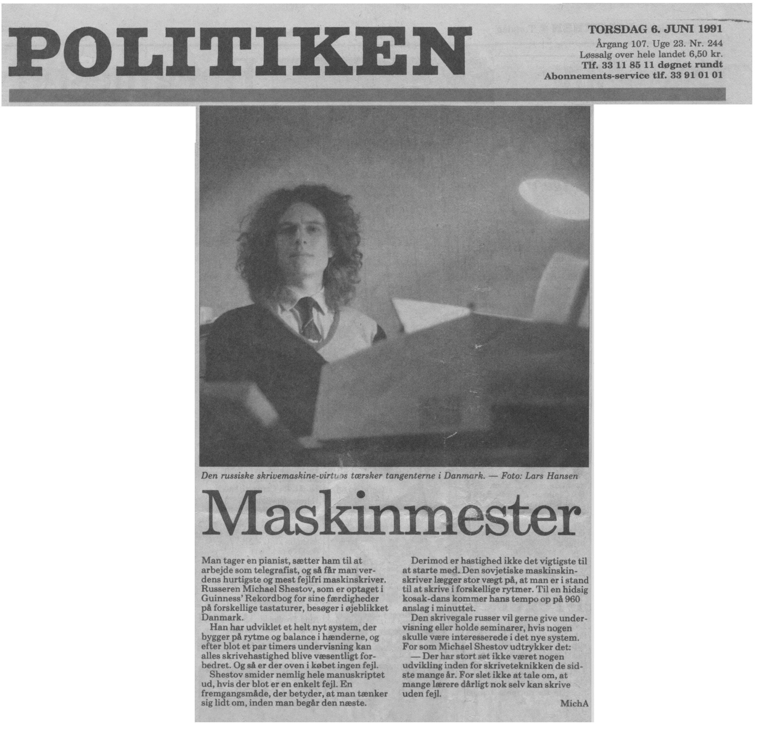 Politiken, 1991