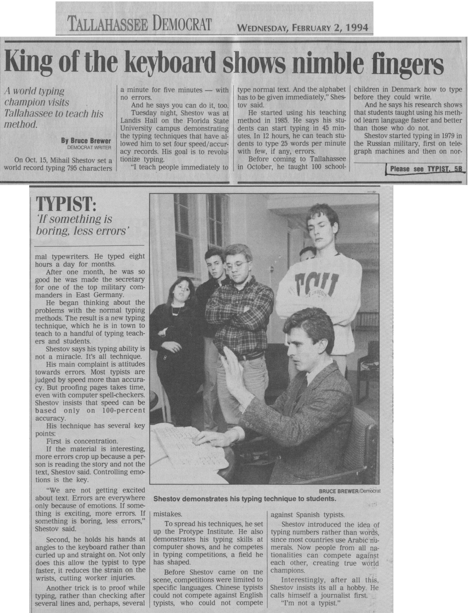 Tallahassee Democrat, 1994